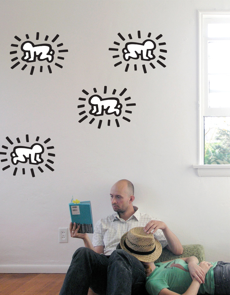 Radiant Baby Dual Wall Stickers Keith Haring: Wall Sticker U0026 Wall Decal  Main Image Part 54