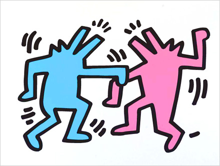 Contenu du pack: Sticker Dancing Dogs Keith Haring