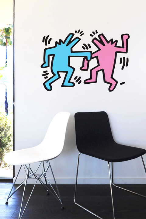 Sticker Dancing Dogs par  Keith Haring