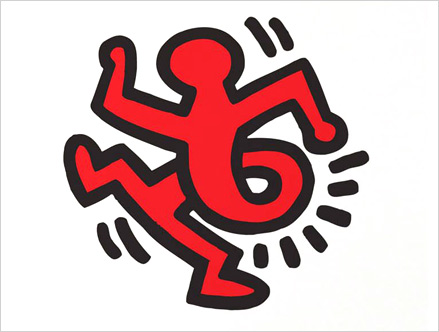 Contenu du pack: Sticker Twisting Man Keith Haring