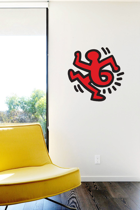 Sticker Twisting Man par  Keith Haring