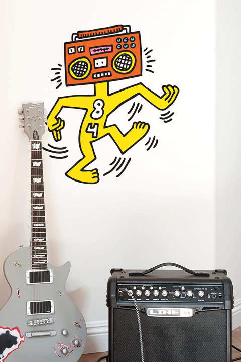 Sticker Mr Boombox  Keith Haring - 1/2