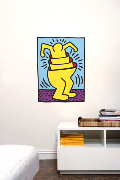 Sticker Nesting Man  Keith Haring - 1/2