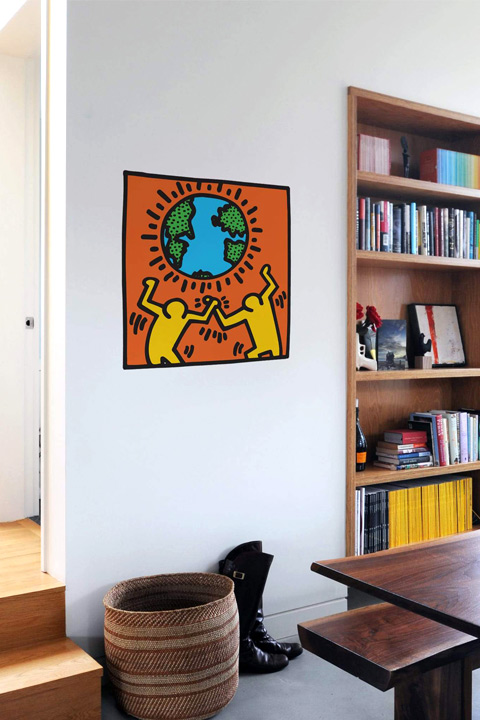 Keith Haring - Globe Wall Sticker & Wall Decals only on Stickboutik.com - 1/2