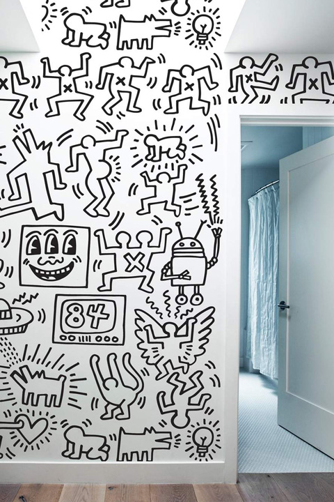 Keith Haring Wall Decals: Symbols - Black Giant Wall Murals only on Stickboutik.com - 2/4