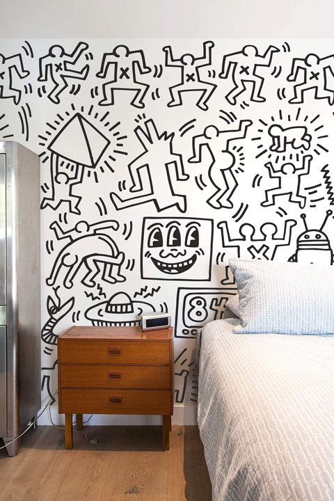 Keith Haring Wall Decals: Symbols - Black Giant Wall Murals only on Stickboutik.com - 3/4