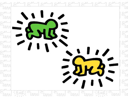 Contenu du pack: Sticker Radiant Baby Keith Haring