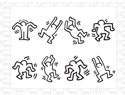 Package content: Dancers Wall Stickers by Keith Haring - Only Stickboutik.com