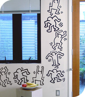 keith haring wall decals dancers wall stickers only on keith haring wall decals dj robot 1984 wall sticker only