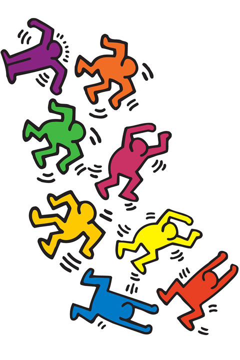 Stickers muraux Dancers  Keith Haring - 2/3