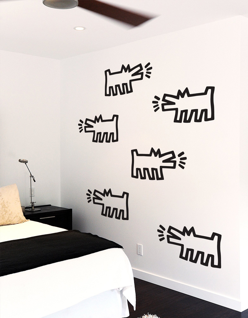 Barking Dogs Wall Stickers Keith Haring: Wall Sticker & Wall Decal Main Image