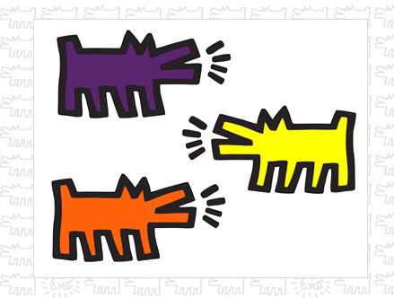 Contenu du pack: Stickers muraux Barking DogsKeith Haring