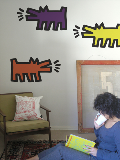 Stickers muraux Barking Dogs par Keith Haring