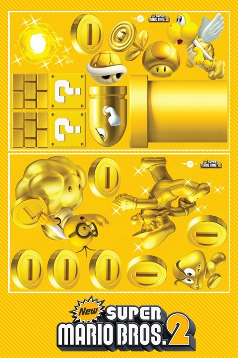 NewSuperMario Bros.2 [Mini]   Nintendo : Wall Sticker & Wall Decal Main Image