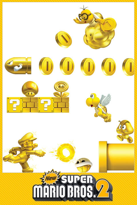 Stickers New Super Mario Bros. 2: Mini Stickers Super Mario Nintendo Officiels - 7/8