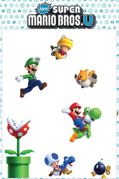 Stickers Mario Bros: Sticker mural géant Super Mario U officiel Nintendo pour une Chambre au décor original! - 10/11