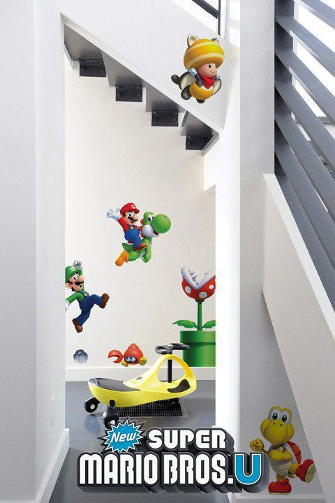 Stickers Mario Bros: Sticker mural géant Super Mario U officiel Nintendo pour une Chambre au décor original! - 4/11