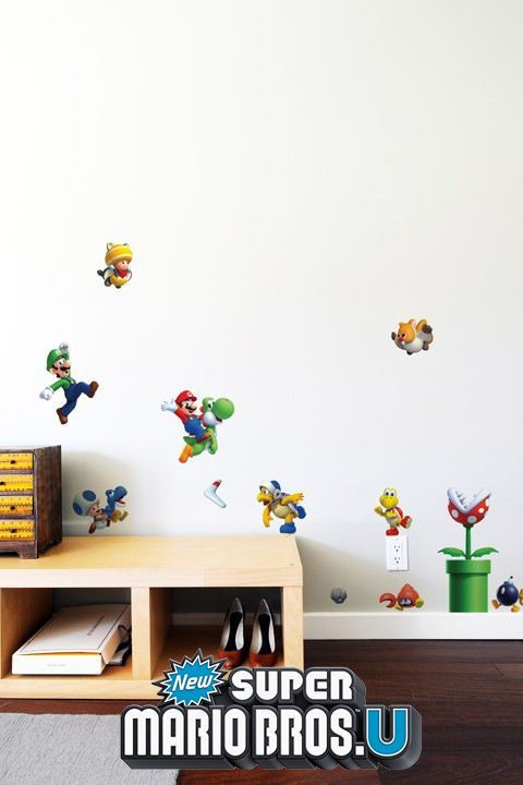 Stickers New Super Mario Bros. U: Mini Stickers déco Super Mario Nintendo Officiels - 1/9