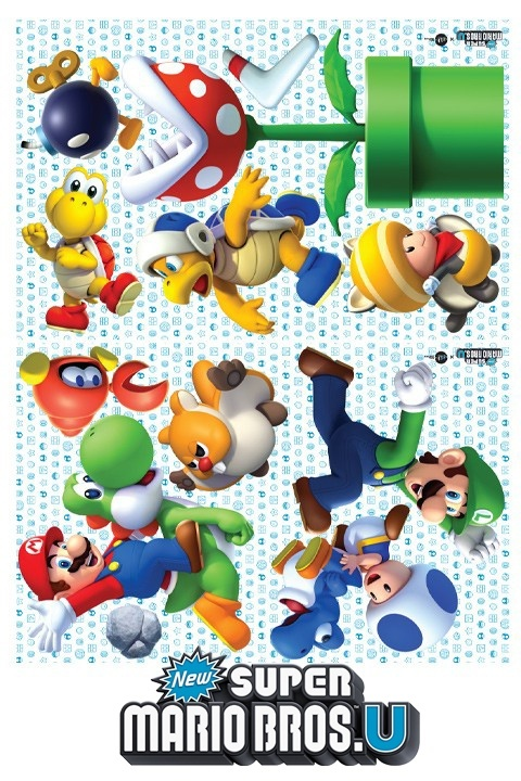 New Super Mario Bros. U Mini Wall Stickers & Wall Decals | Official Nintendo Stickers only on Stickboutik.com - 3/7