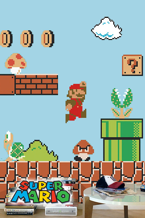 Super Mario Bros. Wall Sticker Decals Nintendo: Wall Sticker U0026 Wall Decal  Main Image