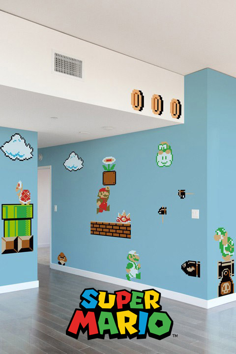 Super Mario Bros Wall Sticker Decals - Official Nintendo Wall Stickers only on Stickboutik.com - 4/8