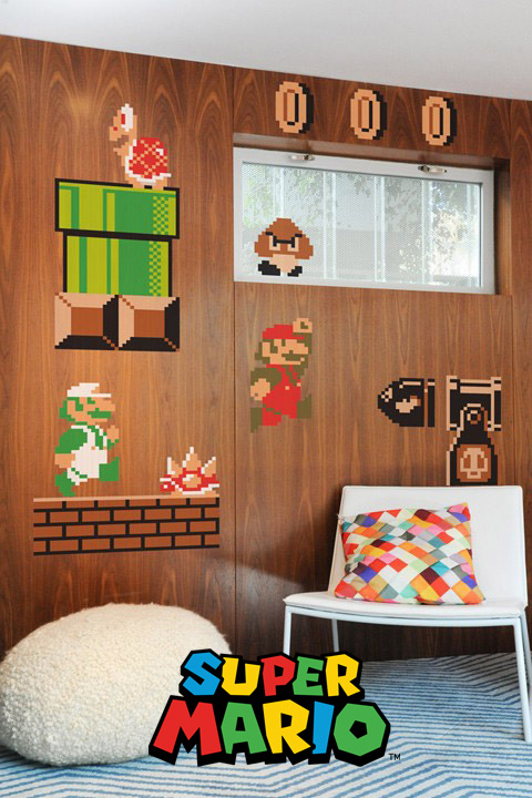 Wonderful Super Mario Bros. Wall Sticker Decals Nintendo: Wall Sticker U0026 Wall Decal  Main Image Good Ideas