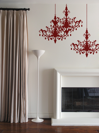 Chandelier Wall Sticker : Wall Sticker & Wall Decal Main Image