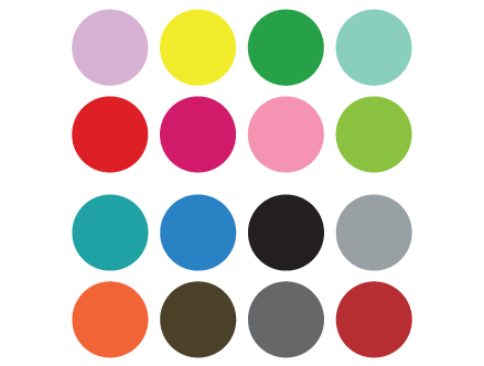 Contenu du pack: Stickers Spot Paintingà la Damien Hirst