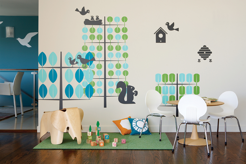 Mint  Trees - Kids Wall Stickers  Boodalee: Wall Sticker & Wall Decal Main Image