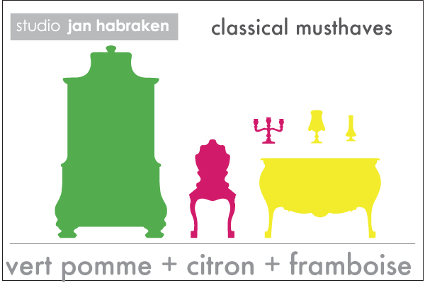 Classical Musthaves Furniture   Jan Habraken: Wall Sticker & Wall Decal Main Image