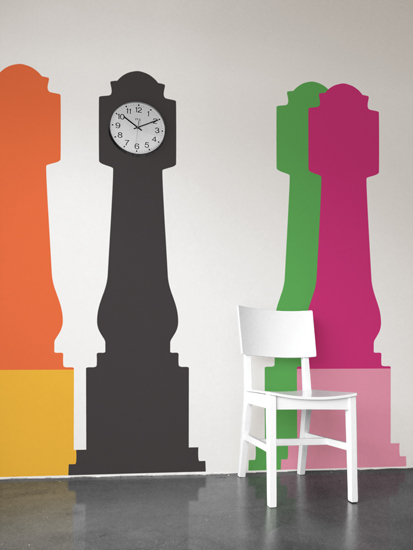 Grandfather Clock   Jan Habraken: Wall Sticker & Wall Decal Main Image