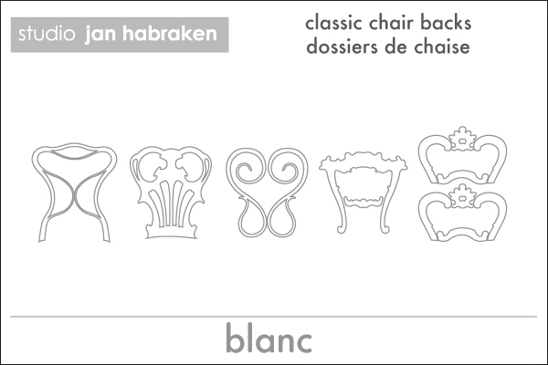 Stickers dos de chaises  Jan Habraken - 3/4