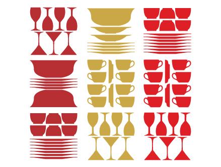 Stickers cuisine vaiselle jan habraken stickers muraux for Stickers cuisine rouge