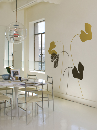 ilan Dei - Cyclamen Snow - Giant Wall Stickers & Wall Decals only on Stickboutik.com - 1/3