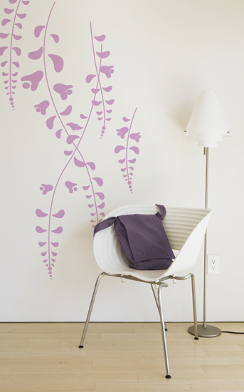 Wisteria Charcoal - Giant Wall Stickers  ilan Dei: Wall Sticker & Wall Decal Main Image