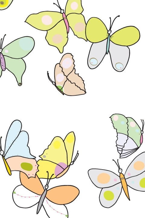 Stickers Papillons Aquarelle - 5/6