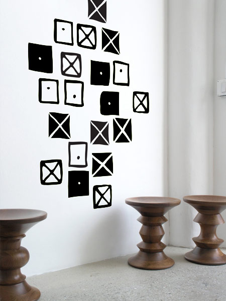 Crosspatch  par Charles & Ray EAMES: Wall Sticker & Wall Decal Main Image
