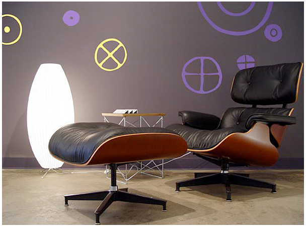 Circles - Big Graphite Stickers  Charles & Ray EAMES: Wall Sticker & Wall Decal Main Image