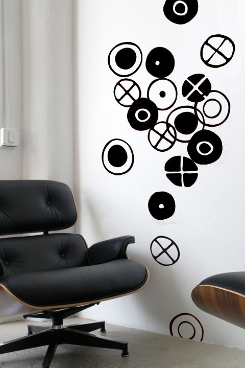 Charles & Ray EAMES - Circles - Small Black Stickers & Wall Decals only on Stickboutik.com - 1/4