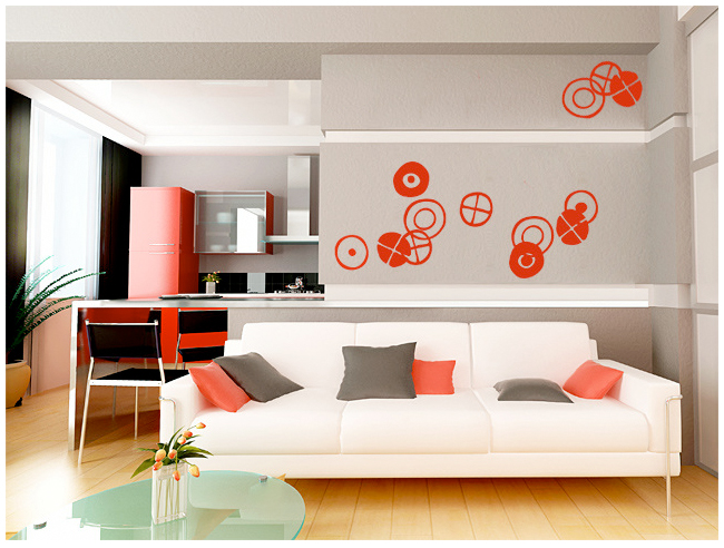 Charles & Ray EAMES - Circles - Small Black Stickers & Wall Decals only on Stickboutik.com - 2/4