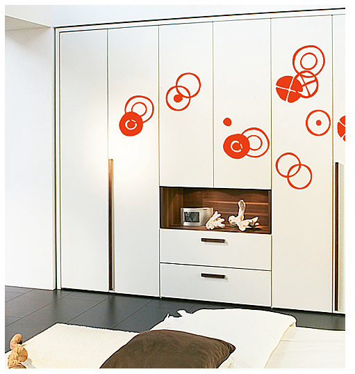 Circles - Small Graphite Stickers Charles & Ray EAMES: Wall Sticker & Wall Decal Main Image