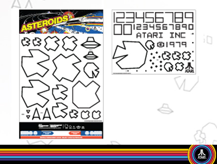 Asteroids - Giant Wall Stickers Atari : Sticker / Wall Decal Outline
