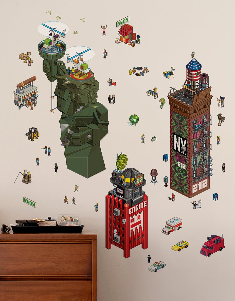 NewYork City - eCity Wall Stickers  eBoy: Wall Sticker & Wall Decal Main Image