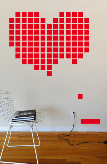 Heart BreakOut - Retrogaming Giant Wall Sticker  HybridDesign: Wall Sticker & Wall Decal Main Image