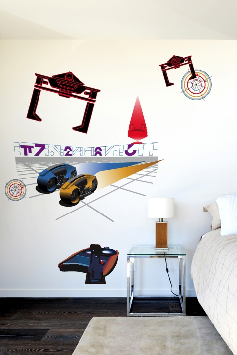 The Grid Tron Classic: Wall Sticker & Wall Decal Main Image