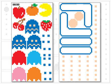 Stickers Muraux et stickers deco Stickers PacMan Fantomes chez stickboutik.com