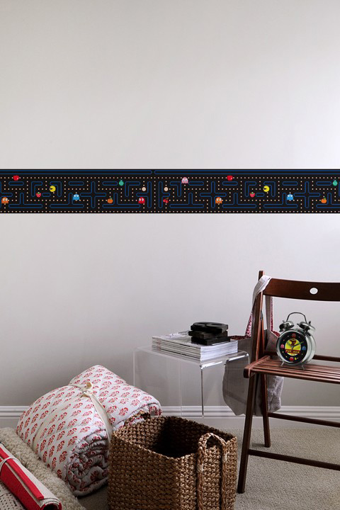 Official PAC-MAN Wall Stickers | Border - Giant Wall Stickers by  Namco/Bandai for a custom Geek decor - Stickboutik.com - 1/6