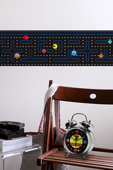 Official PAC-MAN Wall Stickers | Border - Giant Wall Stickers by  Namco/Bandai for a custom Geek decor - Stickboutik.com - 2/6