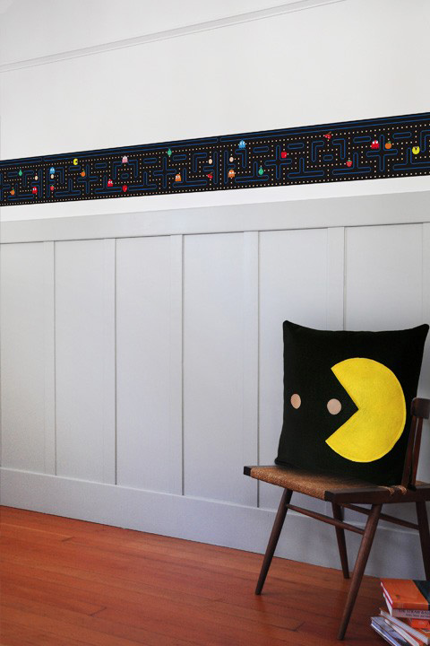 Official PAC-MAN Wall Stickers | Border - Giant Wall Stickers by  Namco/Bandai for a custom Geek decor - Stickboutik.com - 3/6