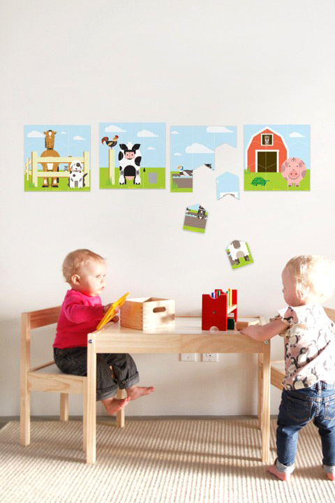 A Modern Eden - Farm Wall Puzzle - Kids Wall Stickers  & Wall Decals only on Stickboutik.com - 1/3
